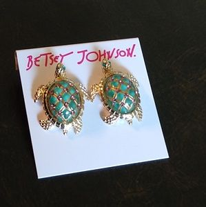 Betsey Johnson Turtle earrings